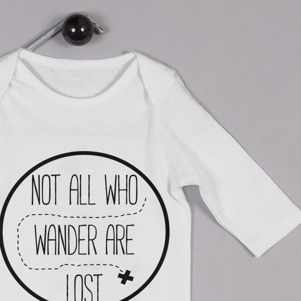 Not All Who Wander are Lost Logo Newborn Baby Boy Girl Romper Jumpsuit Long Sleeve Bodysuit Overalls Outfits Clothes