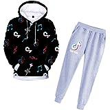 TIK Tok - Juego de sudadera con capucha y pantalones para niña, unisex