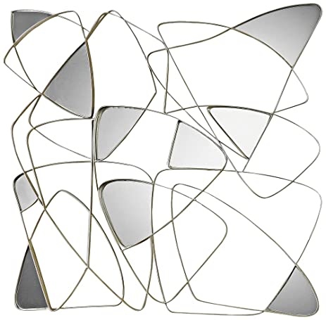 Amazon.com: Abstract Mirrored Wall Art: Home & Kitchen