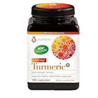 Youtheory Turmeric Extra Strength Formula Capsules 1,000 mg per Daily, 180 Count...