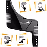 La barba modello di acconciatura- Stencil per gli uomini - Leggero e flessibile - una dimensione adatta a tutti - Curva tagliare, fase Taglio, scollatura & pizzetto barba attrezzo di formatura in nero