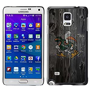 Impact Case Cover with Art Pattern Designs FOR Samsung Galaxy Note 4 Miami Hurricane Football Betty shop