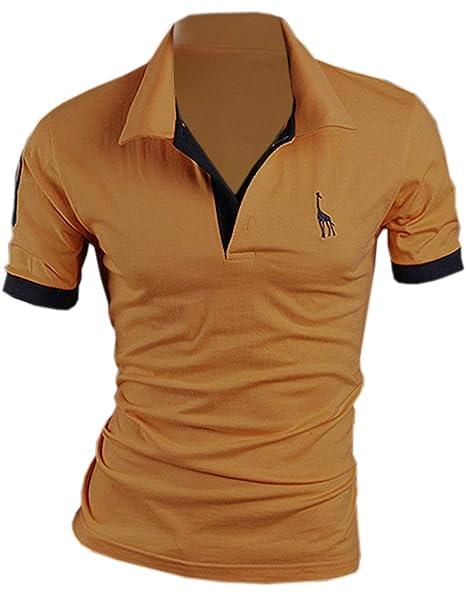 SOMTHRON Hombre Camisas de Polo de Manga Corta de algodón más el tamaño de  Manga Delgada 59c54c6a1df1f
