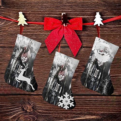 クリスマスの日の靴下 (ソックス3個)クリスマスデコレーションソックス キリー アーヴィングKyrie Irving クリスマス、ハロウィン 家庭用、ショッピングモール用、お祝いの雰囲気を加える 人気を高める、販売、プロモーション、年次式
