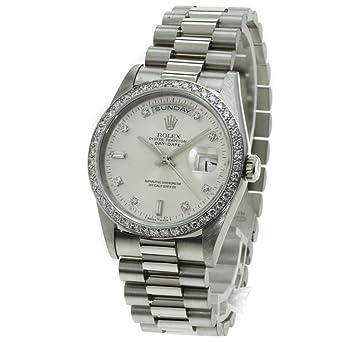 on sale fd850 2563c Amazon | [ロレックス]デイデイト 腕時計 K18ホワイトゴールド ...