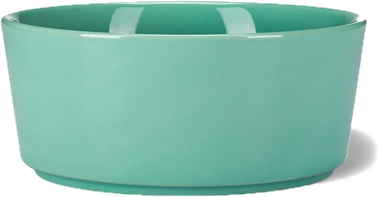 Waggo Light Grey Simple Solid Dog Bowl (Large Mint)