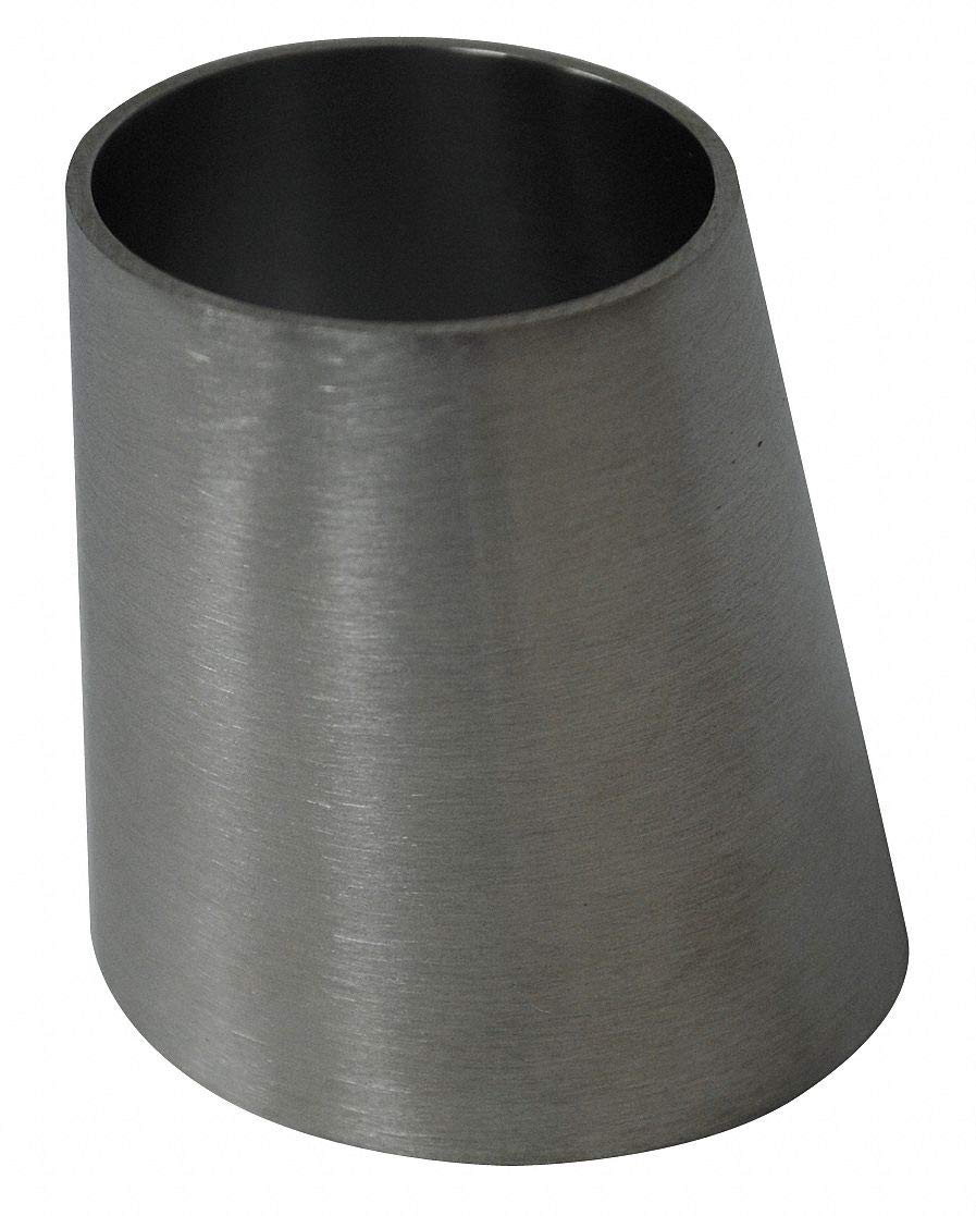 T316L Stainless Steel Eccentric Reducer, Butt Weld Connection Type, 4'' x 3'' Tube Size