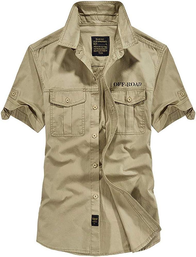 Star-bw Camisa Hombre Militar Manga Corta Casual gant Juvenil Slim fit (XS, Caqui): Amazon.es: Ropa y accesorios
