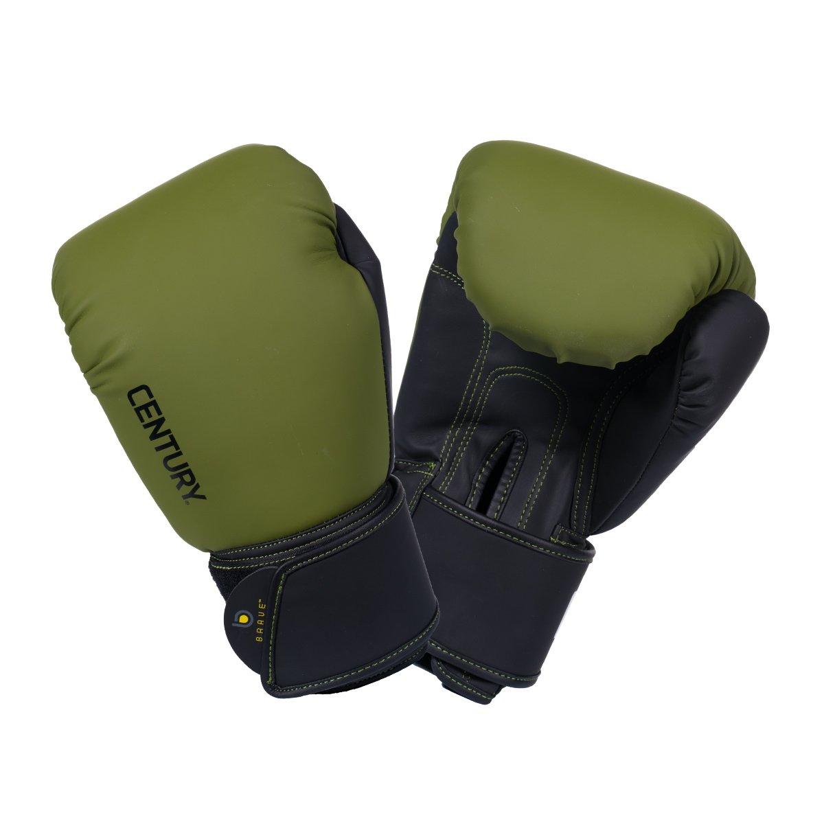 Century Brave Muay Thai Boxing Glove 12oz Olive//Black
