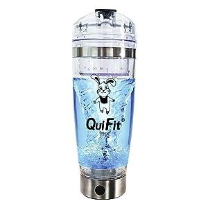 Agitador Eléctrico Proteínas Shaker Botella, QuiFit Coctelera Para Batidos de...
