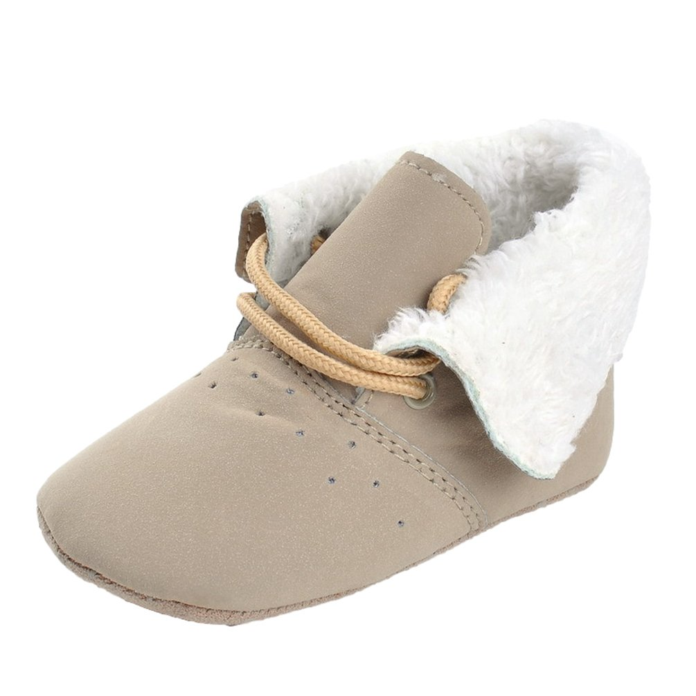 CHENGYANG Bébé Fille Bottes de Neige Souples Soft Chaussures de Berceaux Bottes Enfant Marche Chaussons