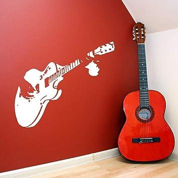 haotong11 Inicio Arte Mural Guitarra Guitarrista Vinilos Decorativos Vinilo Habitación Etiqueta Calidad Etiqueta de la Guitarra Diseño de la música ...