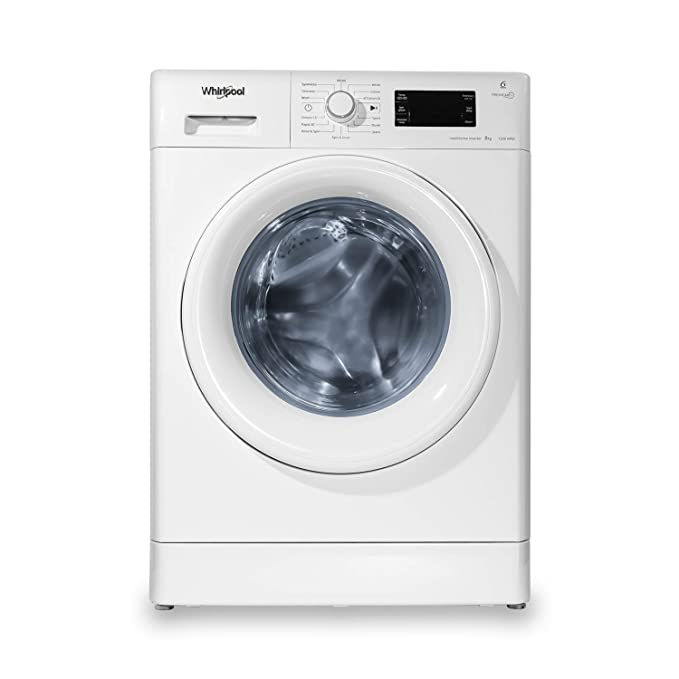 Whirlpool 8 kg Inverter Fully Automatic Front Load Washing Machine  Fresh Care 8212, White, Inbuilt Heater  Washing Machines   Dryers