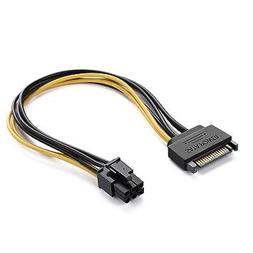 longxi PCI Express SATA Cable de alimentación, 20 cm SATA ...
