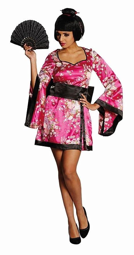 Señoras traje geisha vestido rosa Asia Japón países ...