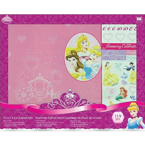 (Disney(R) 8.5 Inch x8.5 Inch Postbound Album Scrapbook Kit - Princess )
