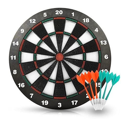 Image of ActionDart Soft Tip Darts and Dart Board Set - Great Games for Kids - Leisure Sport for Office Darts & Equipment