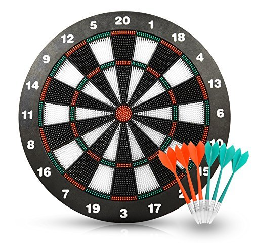 Review ActionDart - Soft Tip Safety Darts and Dart Board - Great Games for Kids - Leisure Sport for ...