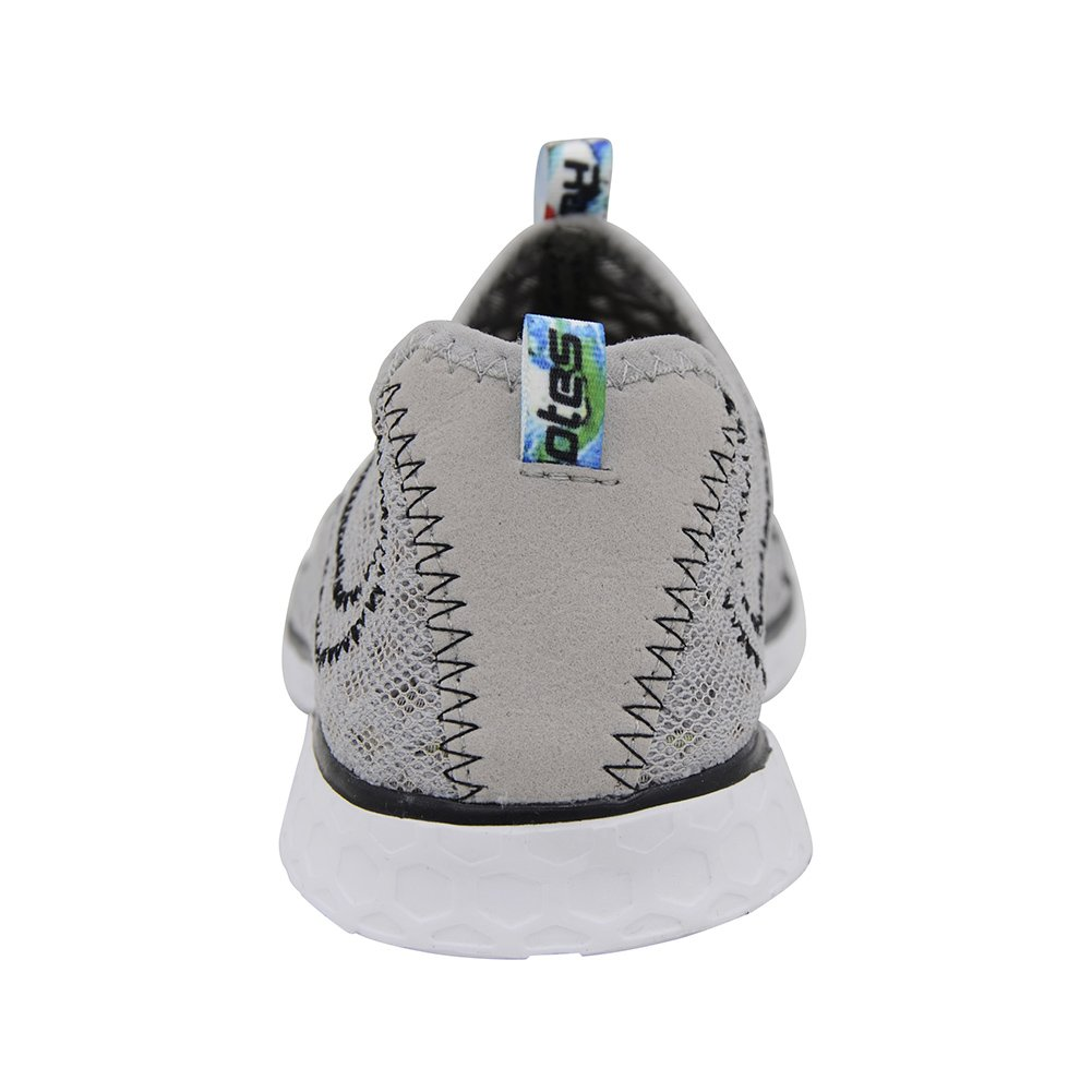 Raotes Quick Drying Aqua Water Shoes - Beach Walking Amphibious Shoes for Men Grey 45 by Raotes (Image #5)