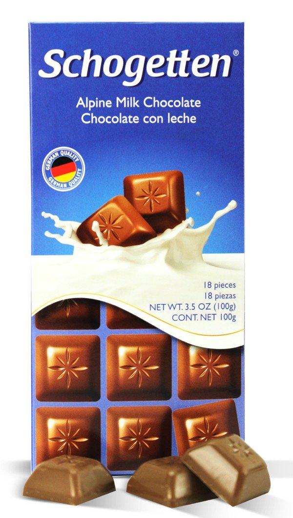 Amazon.com : Schogetten, Alpine Milk Chocolate Bar 3.5oz (5 pcs) : Grocery & Gourmet Food