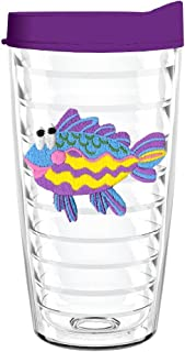 product image for Smile Drinkware USA-RAINBOW FISH 16oz Tritan Insulated Tumbler With Lid and Straw