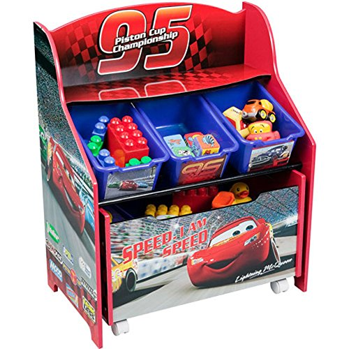 Disney/Pixar CARS 3 - Details & Downloadable Activity Sheets #Cars3 - Cars 3-Tier Storage Organizer with Roll Out Toy Box