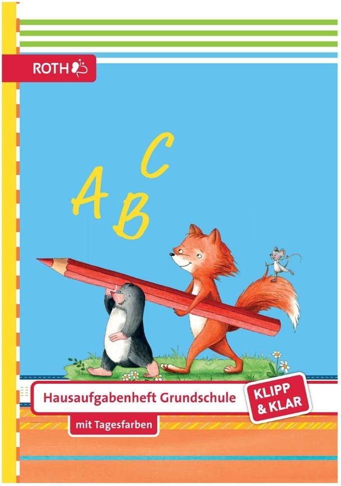 Klar ROTH Hausaufgabenheft Grundschule Klipp Flinki und Schlau