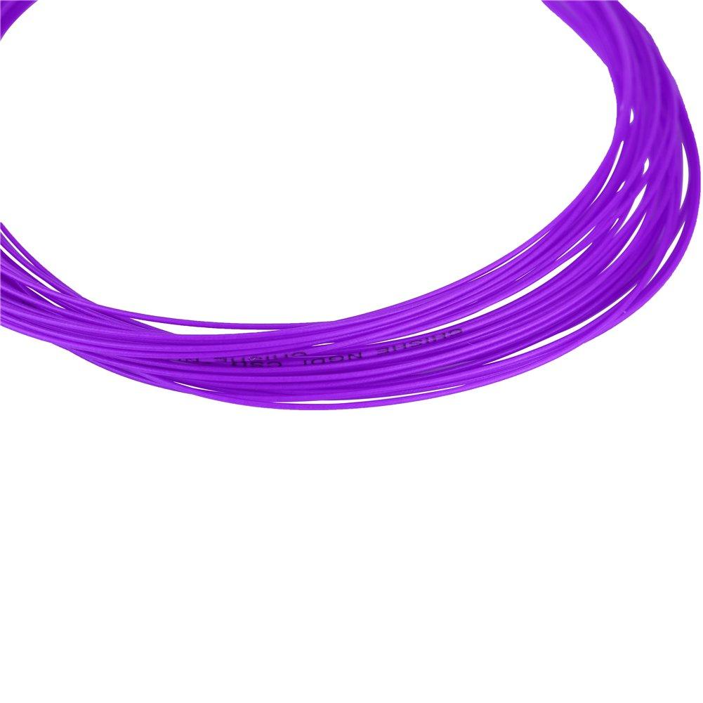 Tbest 2Pcs Cordes Badminton Vert Fluorescent Raquette de Badminton /à Haute Flexibilit/é Ligne Rouge Violet 10 m de Nylon Durable Bleu Jaune Noir