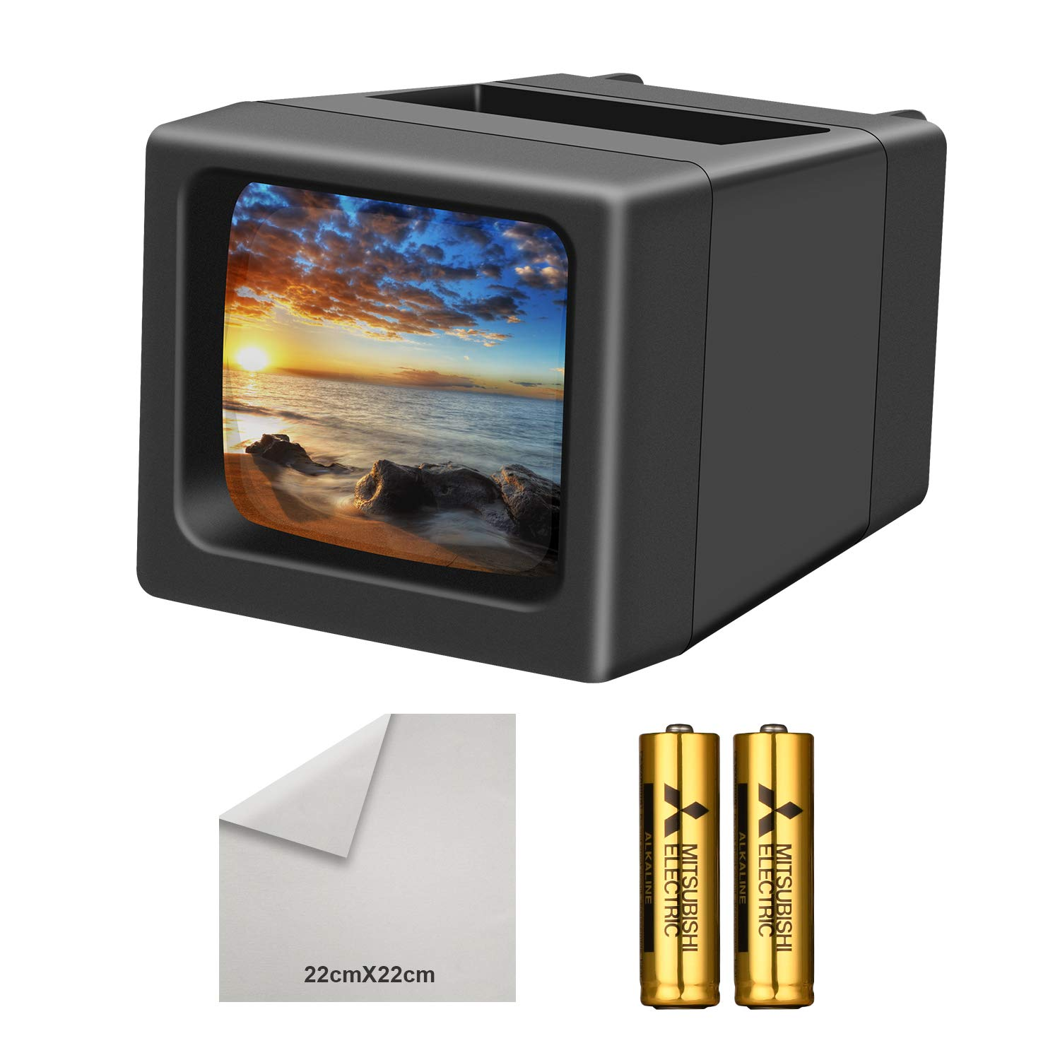 LED Lighted Illuminated 35mm Slide Viewer(2AA Batteries Included) by Rybozen