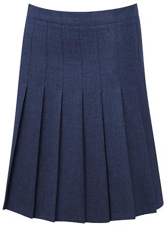 ba10c4f056 School Uniform Senior Stitched Down Knife Pleat Skirt Girls Schoolwear  Bottom: Amazon.co.uk: Clothing