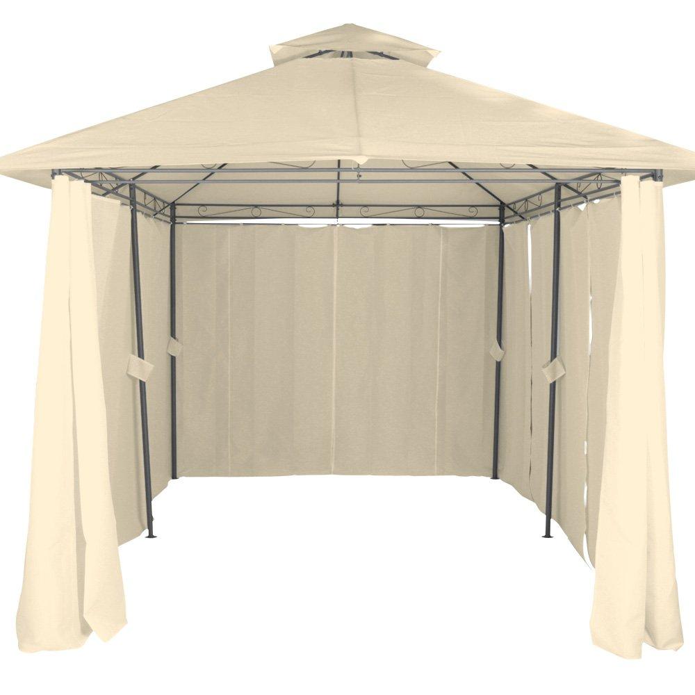 de F/ête Beige//Marron | Tonnelle Miadomodo Pavillon de Jardin 3 x 4 m Tente avec Rideaux et Double Toit de R/éception Choix de Couleur Beige Gazebo Chapiteau de Jardin