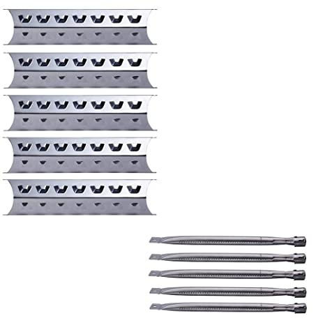 Votenli S9518A (5-Pack) S1560A (5-Pack) Replacement Repair Kit for Master  Forge 3218LT,3218LTN, L3218, 5 Burner Gas BBQ Grill SS Burners and Heat
