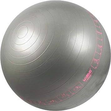 648bfd2595 Bola Suíça com Ilustrações de Exercícios para Pilates 65 CM - LIVEUP  LS3577-C