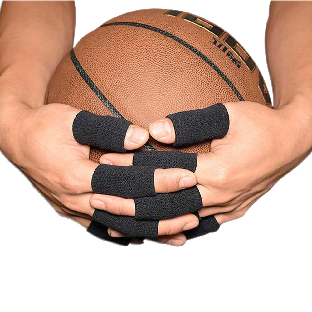 Tcplyn 10PCS Anti-Slip Sports Finger Cover Thumb Protector Sleeve Elastic Arthritis Finger Braces Sports Aid for Basketball Tennis etc by Tcplyn (Image #2)