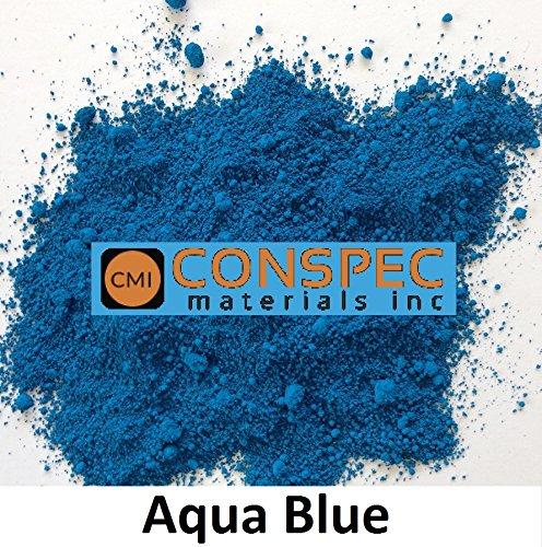 Conspec 2-oz Aqua Blue Powdered Color for Concrete, Cement, Mortar, Grout, Plaster, Colorant, Pigment (2 Ounce Powdered Dye)