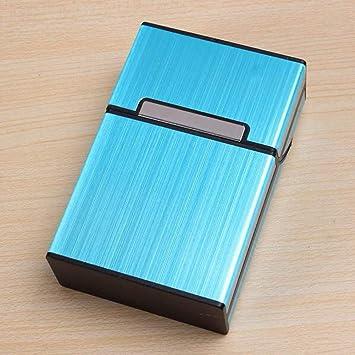 Idea Regalo para Hombre, Caja Estuche de cartón, Estuche de cartón para 20 Cigarrillos Paquete, Estuche de cartón Metal, Estuches de cartón, Cigarrillos Caja Estuche de cartón para Hombre y Mujer: Amazon.es:
