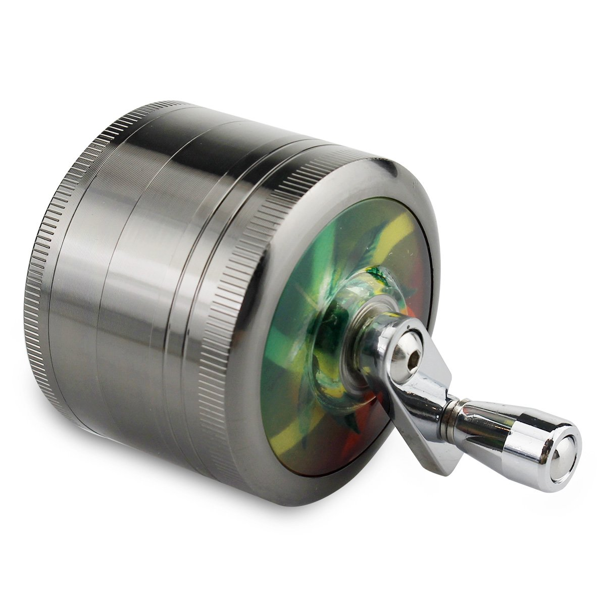 Formax®420 chromium metal, herb grinder, 50 mm with handle, crusher. Formax®420 chromium metal FORMAX420