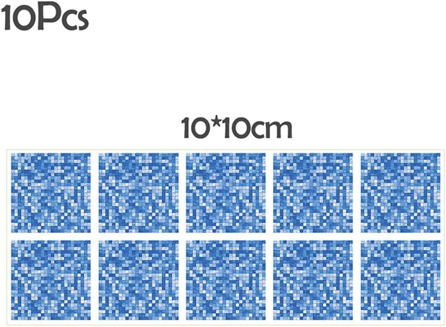 NIBESSER 10PCS//Set Mosa/ïque Papier Adhesif 3D Autocollant Mural Imperm/éable Auto-adhesif en mosaique Stickers Carrelage pour la Salle de Bain et la Cuisine