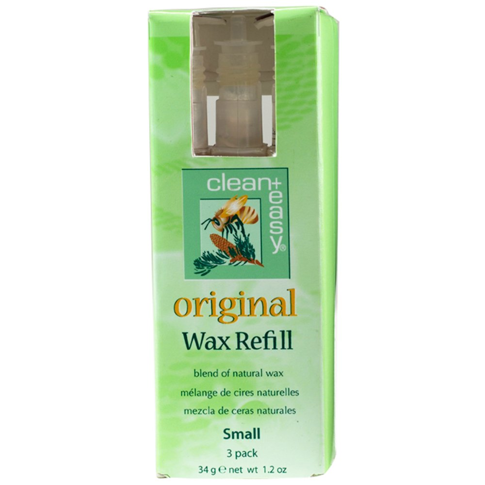 Clean + Easy Original Small Face Wax Refills, 1.2 Ounce Clean Plus Easy