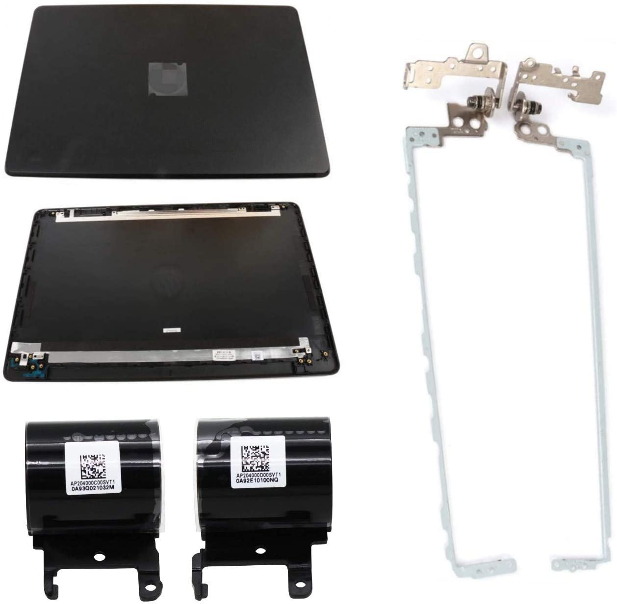 S-Union New Replacement LCD Back Cove and Left & Right Laptop Hinges Set and Left & Right Laptop Hinges Covers Set for HP 15-BS015DX 15-BS020WM 15-BX0XX 15T-BS000 15-BW000 15T-BR 15.6