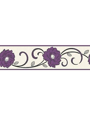 Fine Decor - Cenefa para pared (173 cm), diseño de flores, color