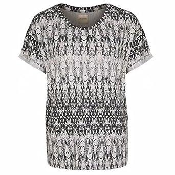984666cba0b Jenna Short Sleeved T Shirt in Black & Grey: Amazon.co.uk: Clothing