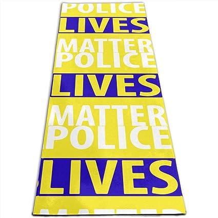 Amazon.com : JNSHO-G Yoga Mat, Police Lives Matter Pilates ...