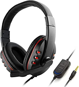 GAEA Gaming Headset, Over Ear Headphones with Microphone for Xbox-ONE, PS4, Nintendo Switch, Playstation 4, Playstation Vita, Mac, Laptop, Tablet, Computer, Mobile Phones, 3.5mm (GM01)