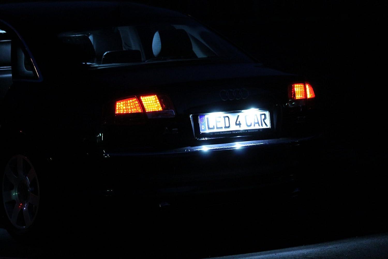 Seitronic Led Kennzeichenbeleuchtung 6000K Xenon-Wei/ß f/ür Ersatz Nummernschilder Lampe Plug /& Play SMD Kennzeichen Beleuchtung 12V DC 2 St/ück Energieklasse A+