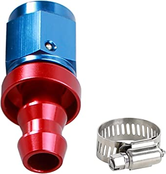 AN 8 AN8 Push-On Hose End Car Performance Fittings to Barb Adaptor Straight