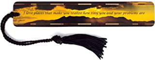 product image for Dramatic Sunset Photograph by Mike DeCesare with Inspirational Quote - Handmade Wooden Bookmark with Tassel