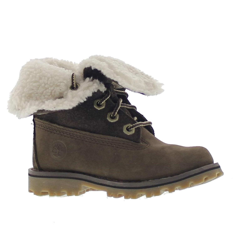 Timberland 6 in WP Shearling BO, Unisex-Kinder Rollkragen Schuhe, Beige (Wheat), 34 EU