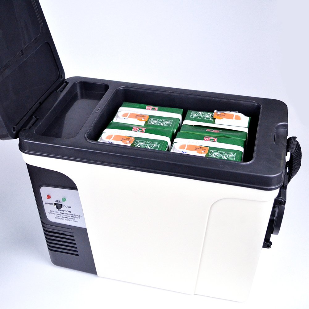 Generic Compact Portable Vehicle Refrigerator Beverage Car Cooler Food Warmer 110V/12V Thermoelectric Truck Fridge,6L by SMETA (Image #8)