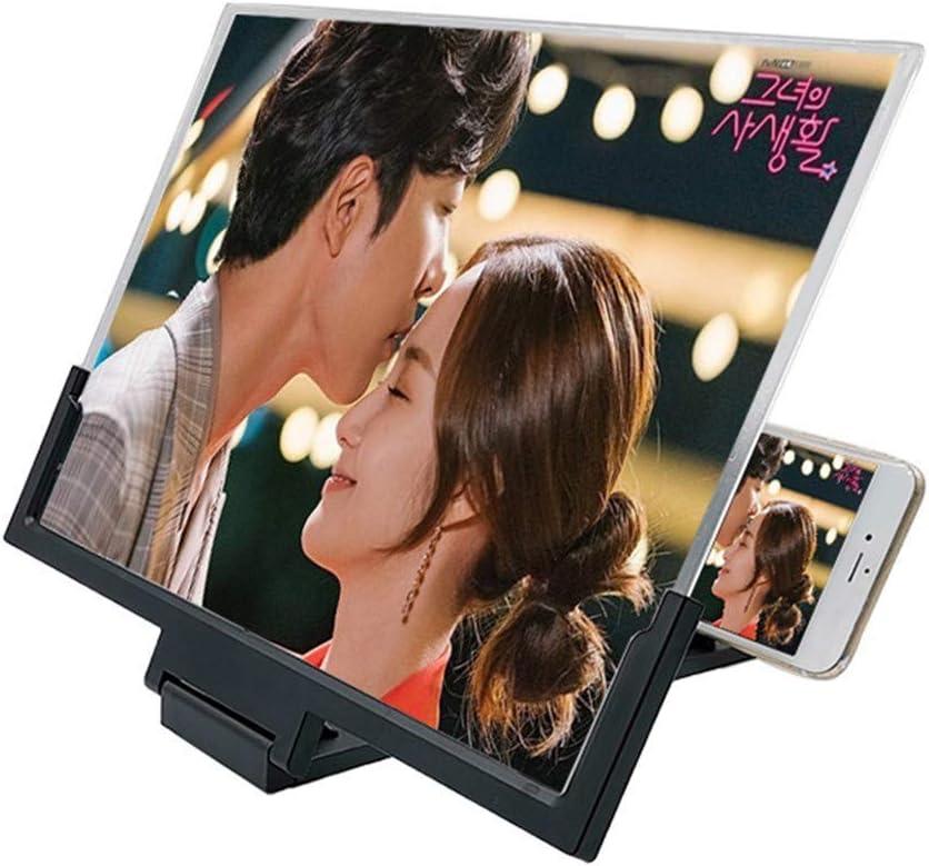 GT-FKM 14 Inch Phone 3D Screen Magnifier Smartphone Magnifying Glass Enlarged Amplifier Mobile Bracket Holder Enjoy Movie Photo-Taking Reading Time